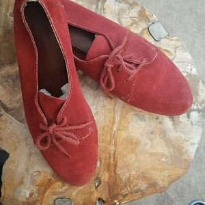 Rust Suede Flats Size 7.5